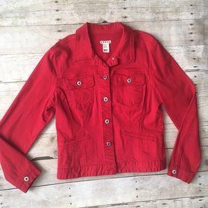 Jackets & Blazers - Bright Red Jean-Style Jacket